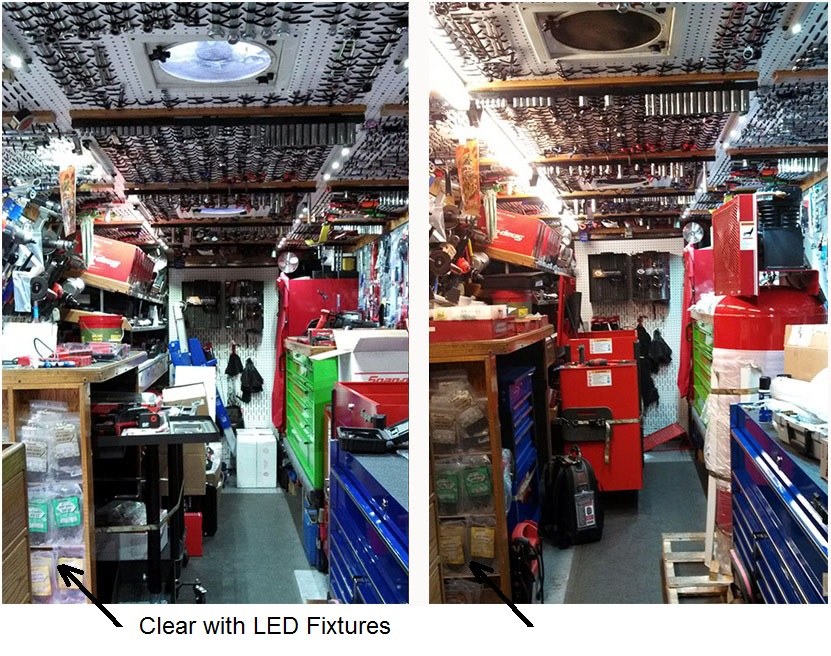 mobile store Light Before After